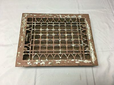 Antique Cast Iron Heat Grate Floor Vent Register Vtg Gothic Old 12x9 05-17B