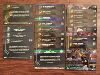 2017 Topps Now - PITTSBURGH PIRATES - Single Cards - Baseball - Choose from list