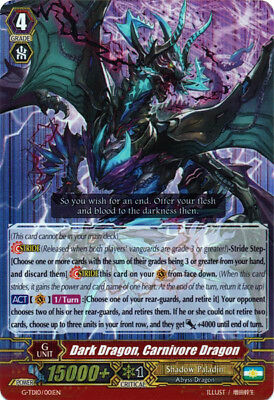 1x Dark Dragon, Carnivore Dragon - G-TD10/001EN - RRR G-TD10: Ritual of Dragon S