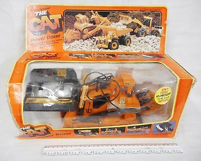 The Cat Power Dozer New Bright RC Remote Control Vintage 1988 No. 291