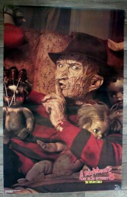 Nightmare Elm Street 5 Dream Child 1989 Freddy Krueger Heron Venture Poster FN