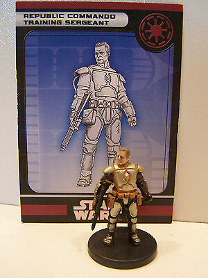 Star Wars Miniatures Legacy of the Force 2008 Republic Commando Sergeant 9/60