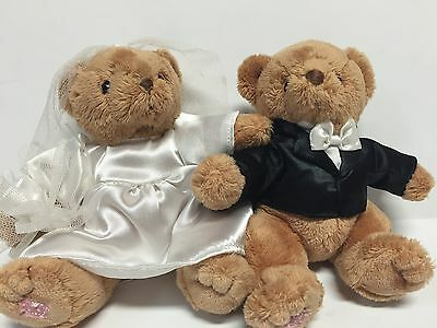 "Cherished Teddies 6"" mini wedding bears non-jointed"