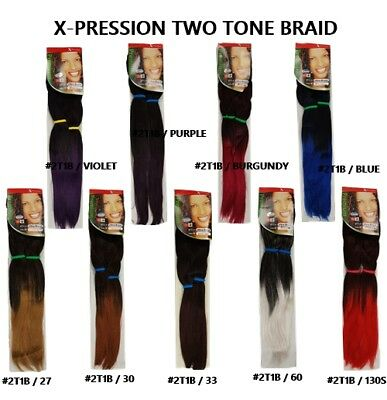 "24"" Xpression Hair Ultra Braid two tone Kanekalon premium 2TONE / 2PK(4PCS)"
