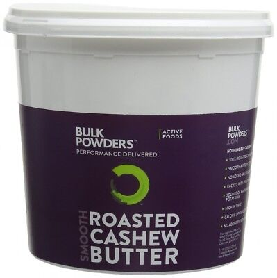 (Smooth) - BULK POWDERS 1 kg Roasted Cashew Butter Smooth Tub. Shipping Included