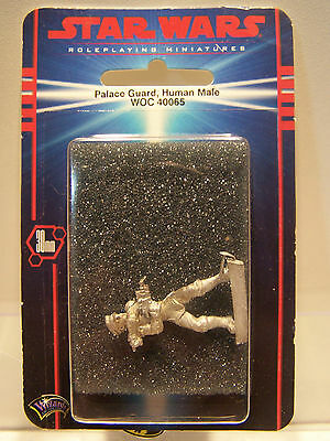 Star Wars Roleplaying Miniatures Palace Guard Human Male WOC 40065 Pewter MOC