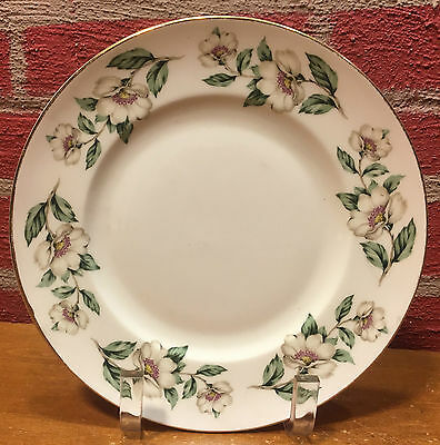 "Crown Staffordshire ""Pear Blossom"" Salad Plate - Good Used Condition"
