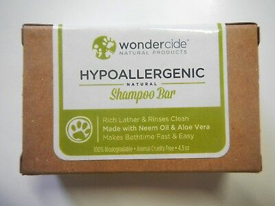 Wondercide Hypoallergenic Natural Shampoo Bar for Pets with Aloe Gentle Safe