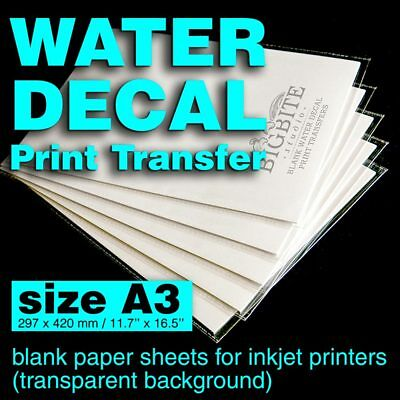 A3 Inkjet Water Slide Decal Paper Sheets, DIY projects
