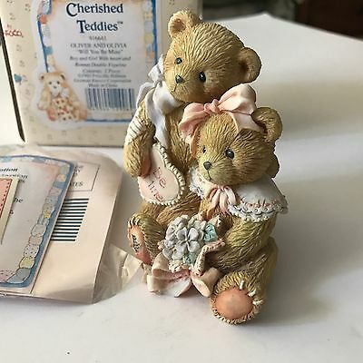 Cherished Teddies Oliver And Olivia Will You Be Mine Nice Valentines Gift