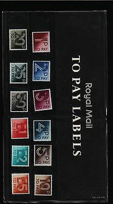 1982 POSTAGE DUES D90  -  D101  PRESENTATION PACK No.135  TO PAY LABELS