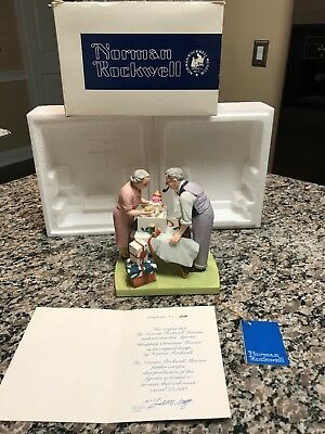"Norman Rockwell American Family Series Figurine ""wrapping Christmas Presents"""