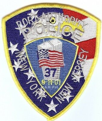 """New York/New Jersey Pt Authority #3  (3.75"""" x 4.5) shoulder police patch (fire)"""