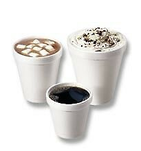 Drinking Cup Dart 6 oz. White Styrofoam Disposable Party Cups 25/Sleeve *NEW*