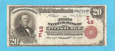 RARE 1902 Red Seal National Cur. ONLY 4 Known 1st Nat Bank of Pittsburgh CH 48