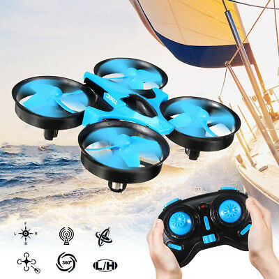 LED Mini Drone RC Quadcopter 2.4GHz 4CH 6 Axis Gyro Headless Mode Switch Kid Toy