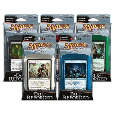 MAGIC THE GATHERING CCG - Fate Reforged Cards Intro Packs Deck Set (5) #NEW