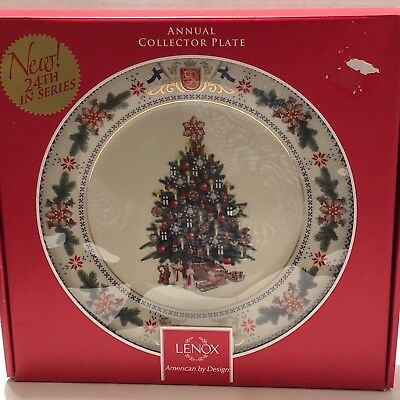 Lenox 2014 Annual Xmas  Collector Plates Finland Trees Around The World