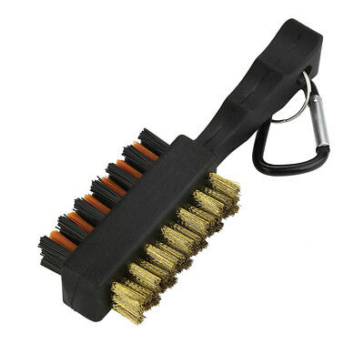 New Two Sides Nylon Golf Club Cleaner Brush Cleaner Clubs For Cleaner Tool Black