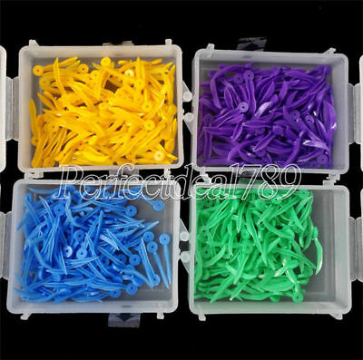 100pcs/Box Dental Poly-wedge Available Plastic With Holes 4 Size Free Choose