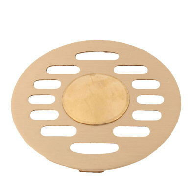 Dormitory Stainless Steel Sink Strainer Filter Floor Drain Cover Cap Gold Tone