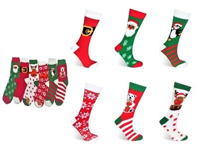 6/ 12 Pairs Ladies Christmas Soft Touch Fluffy Lounge Winter Gift Bed Socks