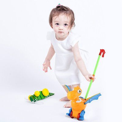 Push Animal Toys Dinosaur Shaped Cartoon Cart Toys Baby/Toddler/Child WalkingHX