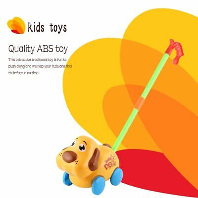 Hand Push Animal Toys Dog Shaped Cartoon Cart Toys Baby/Toddler/Child WalkingHX