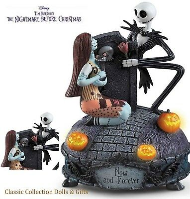"Tim Burton's -Nightmare Before Christmas-""now And Forever"" Disney Music Box-New!"