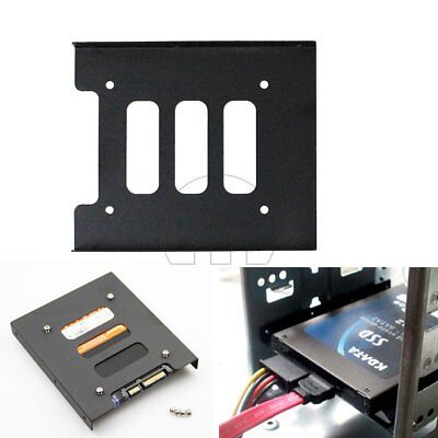 "2.5"" to 3.5"" SSD HDD PC Hard Disk Drive Dock Adapter Bracket Mounting Kit Metal"