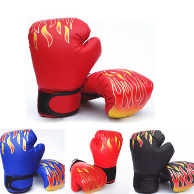 Unisex Age 3~12 Child Kids FIRE Boxing Gloves Punching Fight Training Safety