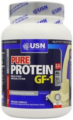 (Vanilla, 1 kg) - USN Pure Protein GF1 Growth and Repair Protein Shake,
