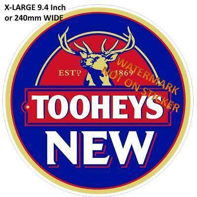 TOOHEYS NEW BEER DECAL STICKER LABEL LARGE 240mm DIA
