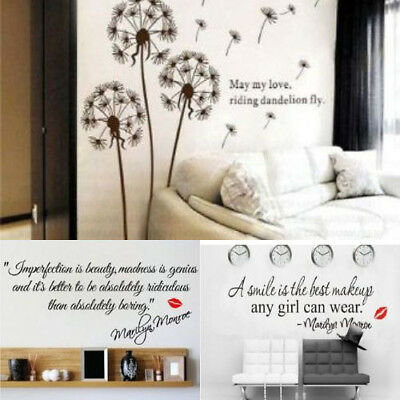 New Marilyn Monroe Quotes Wall Sticker Decals Film Paper For Home Decoration