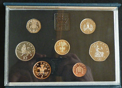 1985 Royal Mint UK Proof 7 Coin Year Set + COA £1 to 1p incl scarce large 50p