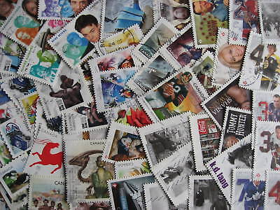 Canada 65 different used 2014 stamps. Mixed condition. Check them out!