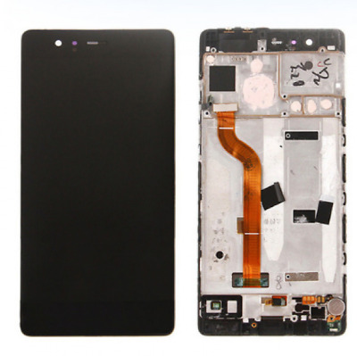 SCHERMO DISPLAY LCD+TOUCH COMPLETO con FRAME HUAWEI P9 LITE NERO VNS L-31
