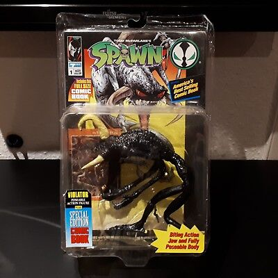 "Todd McFarlane's Spawn ""Violator"" Action Figur Doll in OVP mit Comic Book"