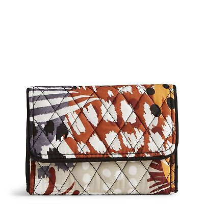 Vera Bradley Riley Compact Wallet in Painted Feathers