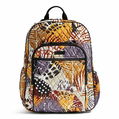 Vera Bradley Campus Tech Laptop Backpack Bag in Painted Feathers