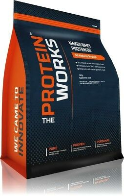 (Wild Strawberry, 1kg) - The Protein Works - Naked Whey Protein 80 - 100%