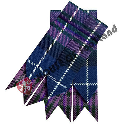 New Men's Scottish Kilt Hose Sock Flashes Pride Of Scotland Tartan Acrylic Wool