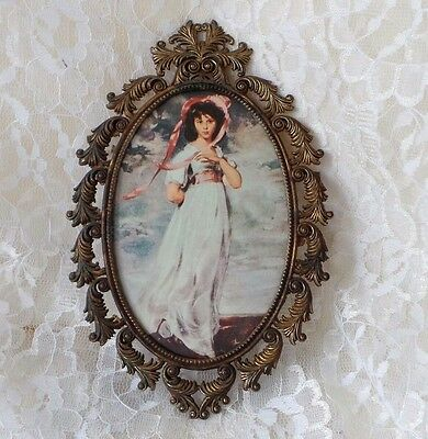 Vintage Brass French Picture Frame Ornate Decor Frame Made in Italy Brass Frame