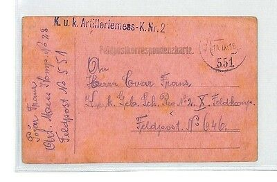 BM343 1918 WW1 Ljubljana Austria Empire Card Slovenia PTS