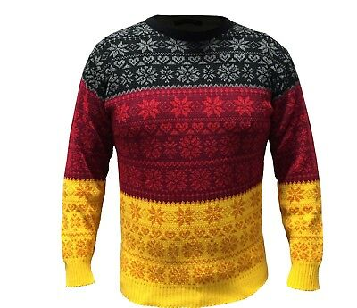Germany Flag Jumper Xmas Unisex Jumper Sweater Novelty Vintage German Flag