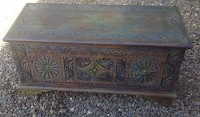Victorian Oak Coffer, Blanket Box Country House