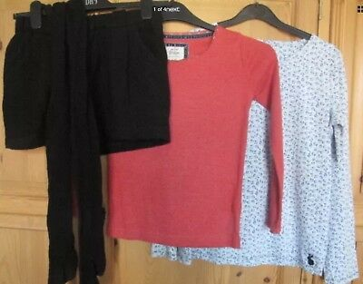 Girl's MINI BODEN / NEXT Winter bundle 4 items Shorts Tights & 2 Tops 9-10/11-12