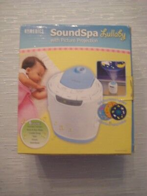 HoMedics SS-3000 Soundspa Lullaby with Picture Projection, White/Blue
