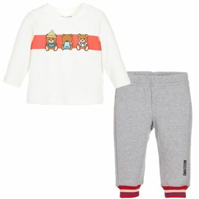 Moschino Kid's Unisex Dressed Up Teddy Top and Sweatpants Set MMK01F 60901