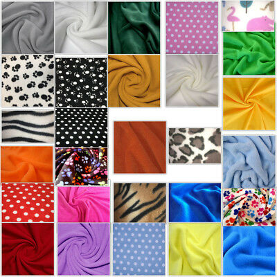 Anti Polar FLEECE soft warm fabric material Various colour150cm wide sold by met